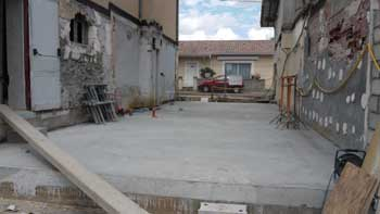 Communaut de communes du val de l 39 eyre le chantier en photos - Coulage de dalle beton ...